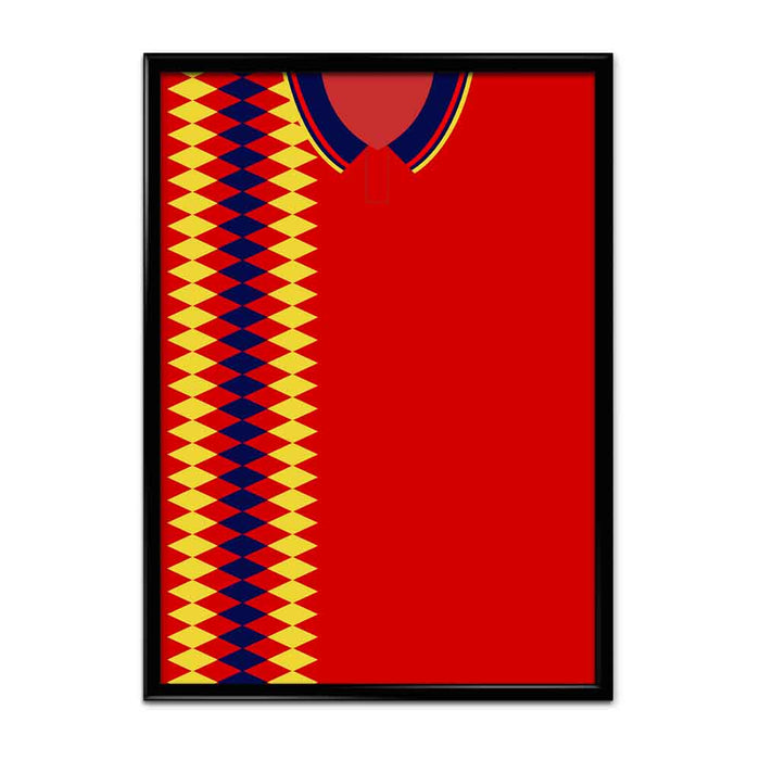 Spain 1994 Football Shirt Art Print