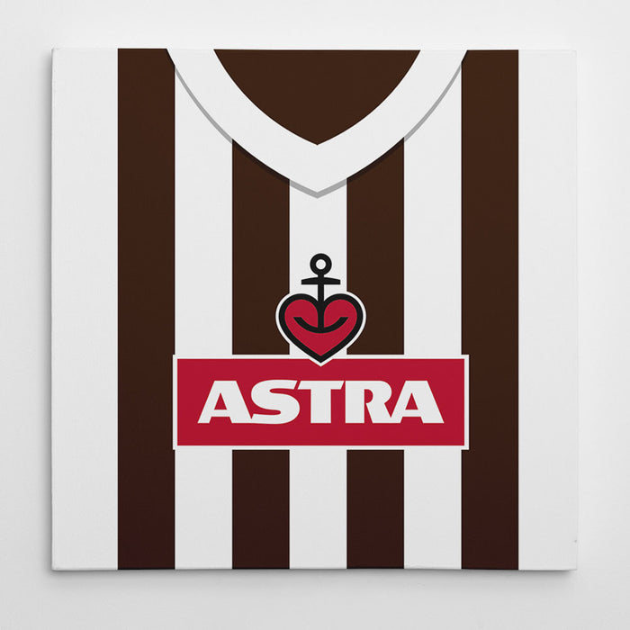 St Pauli Retro Football Canvas Print