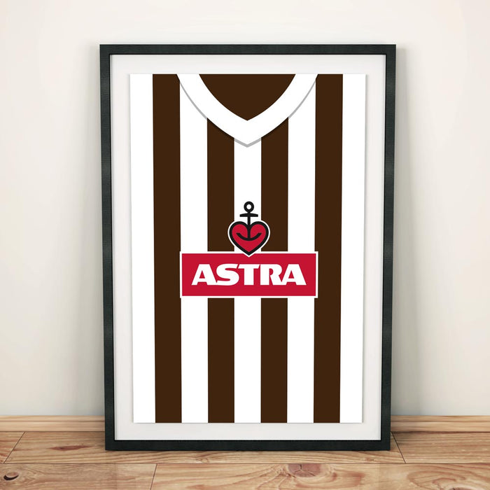 St Pauli Retro Football Shirt Art Print