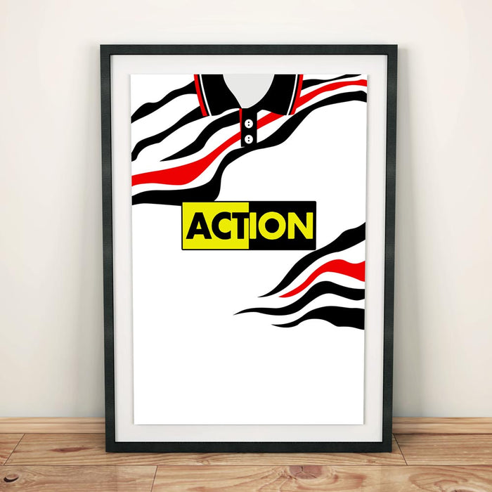 Swansea City 1992-93 Football Shirt Art Print