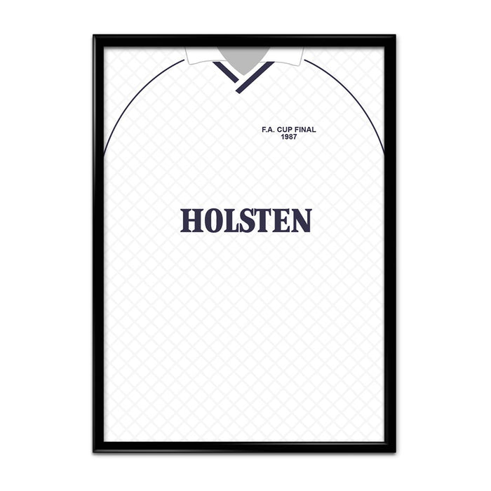 Tottenham 1987 Football Shirt Art Print