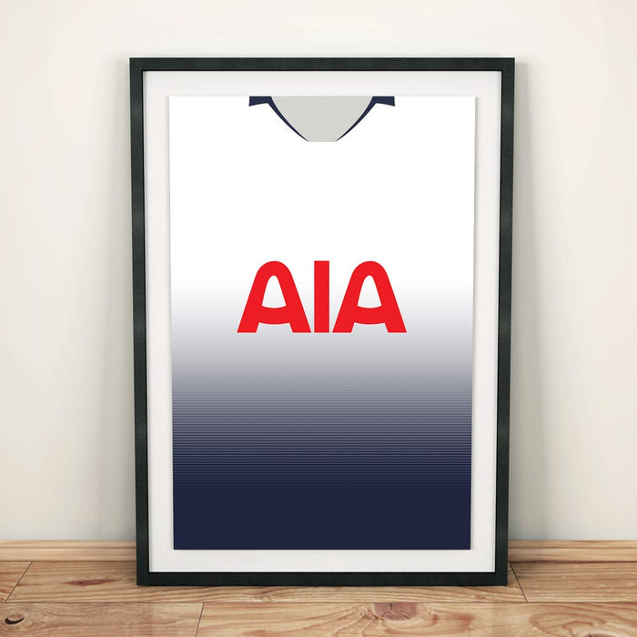 Tottenham 18-19 Football Shirt Art Print