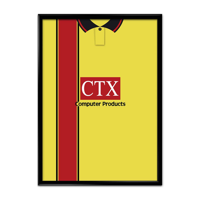 Watford 1997-98 Football Shirt Art Print