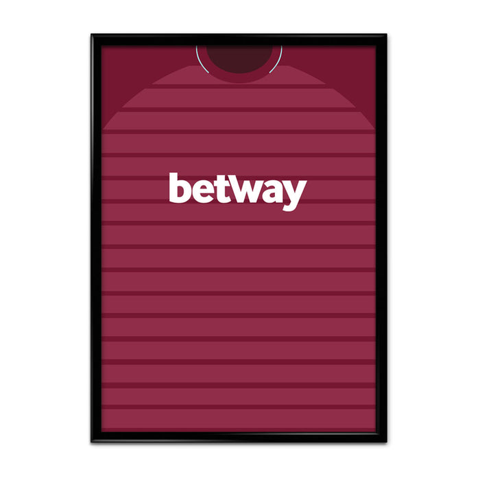 West Ham 18-19 Football Shirt Art Print