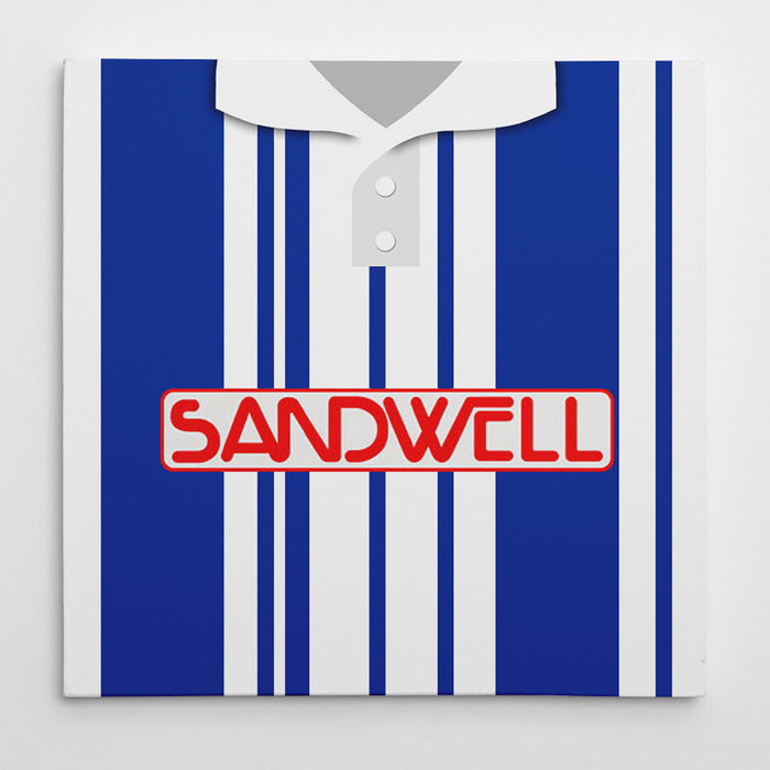 West Brom 1992 Football Canvas Print