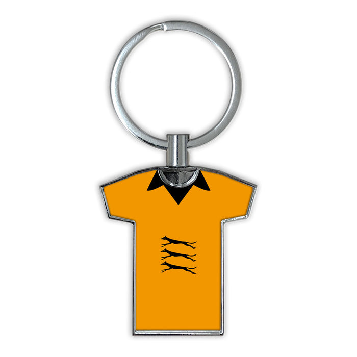 Wolves 1974-77 Football Shirt Keyring