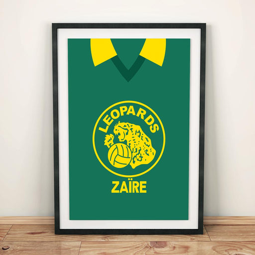 Zaire 1974 Football Shirt Art Print