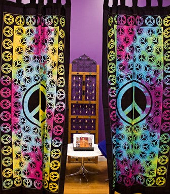 Peace Tye-dye Curtain
