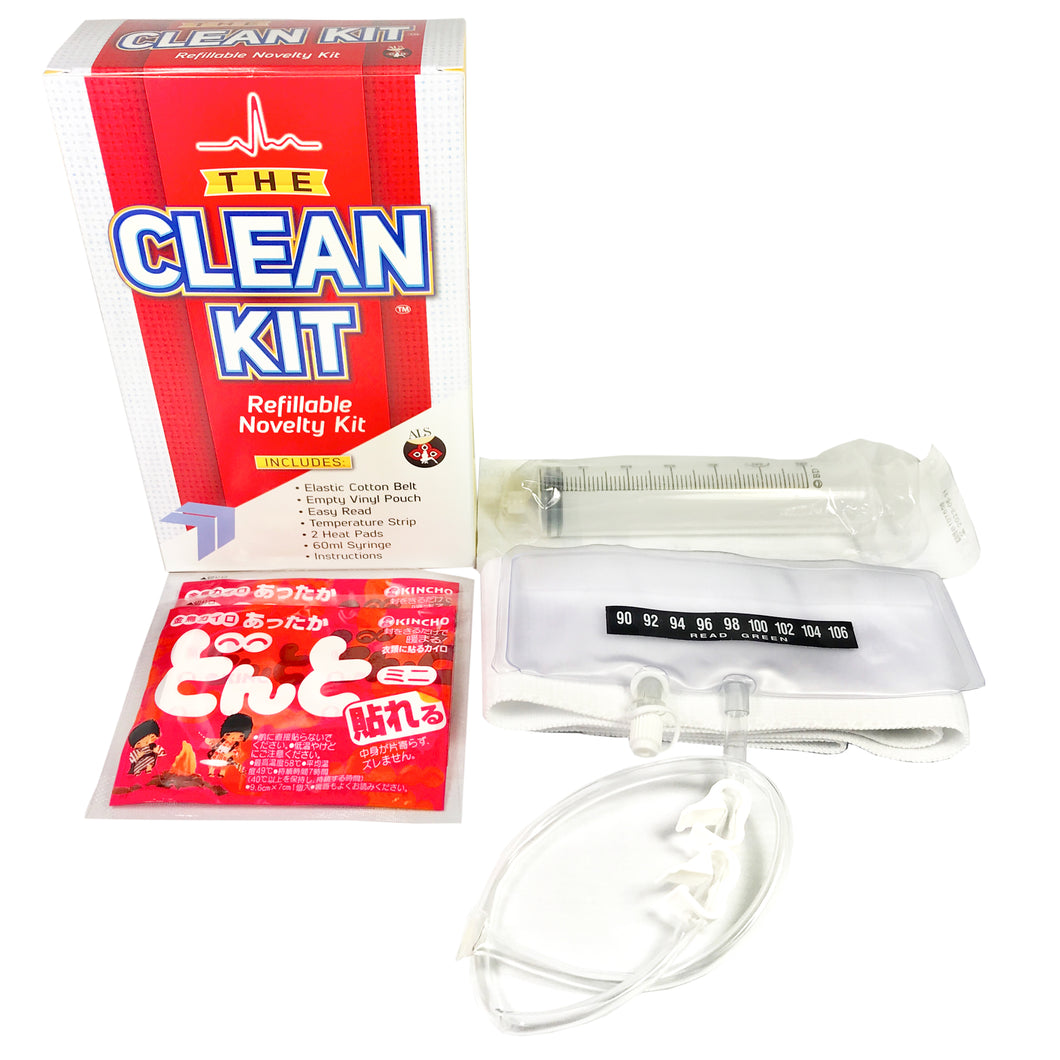 The Clean Kit Refillable Novelty Kit
