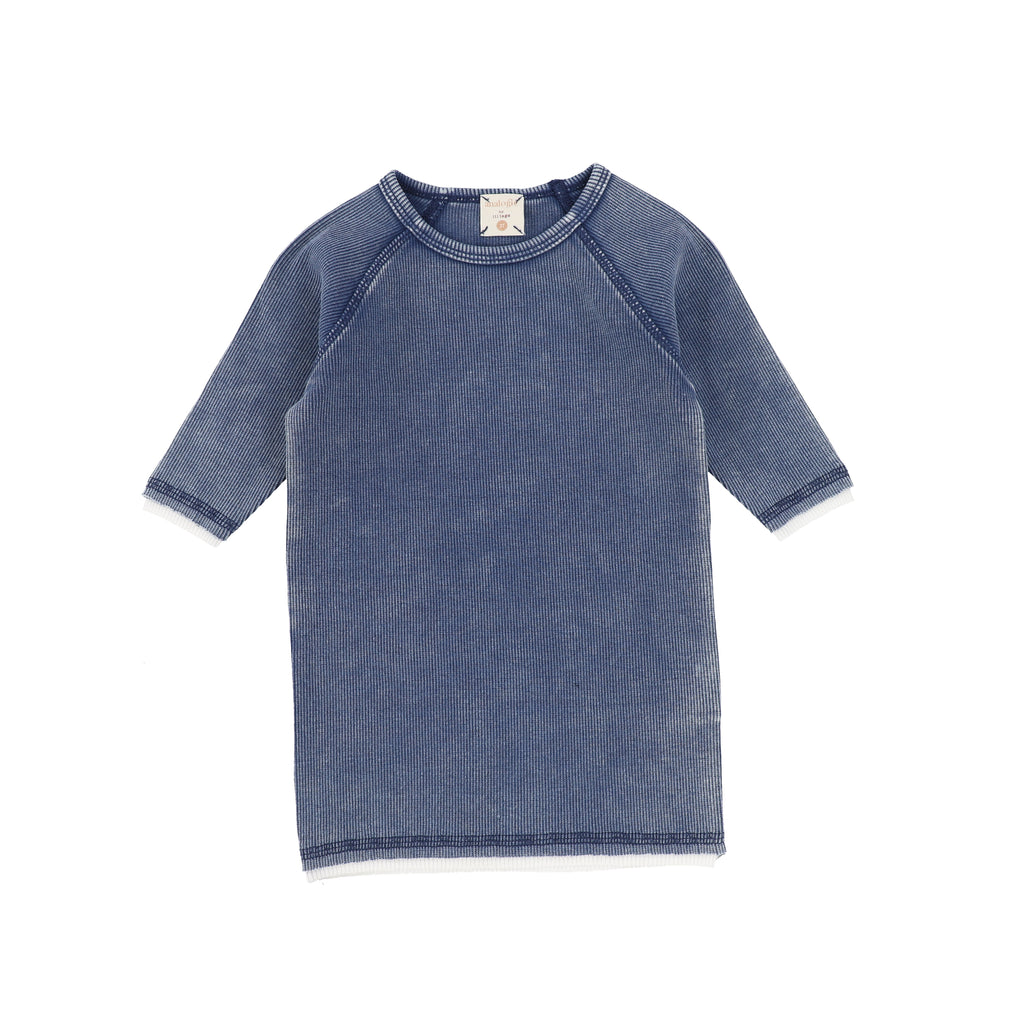 Denim Wash 3/4 Sleeve Tee