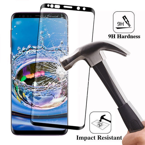 Image of 6D Full Curved Tempered Glass For Samsung Galaxy S8 S9 Plus 3D S7 Edge Note 8 A6 A8 Plus Cover case