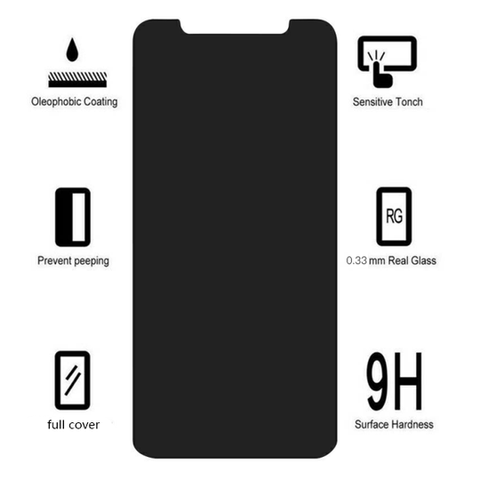Image of Anti-Spy Privacy Tempered Glass Screen Protector For iPhones