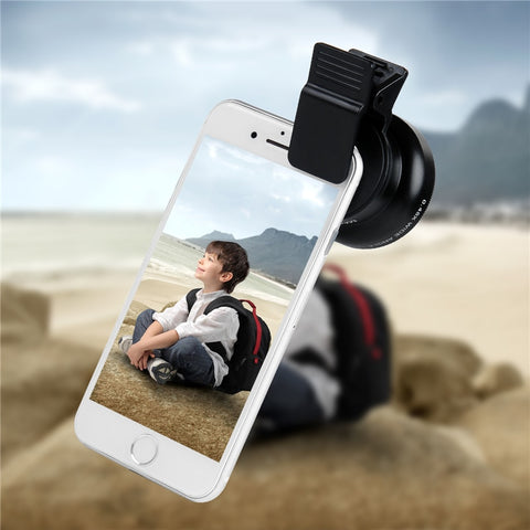 Professional HD Phone Camera Lenses 0.45X Wide Angle 12.5X Macro Lens With Clips 2in1 Kit
