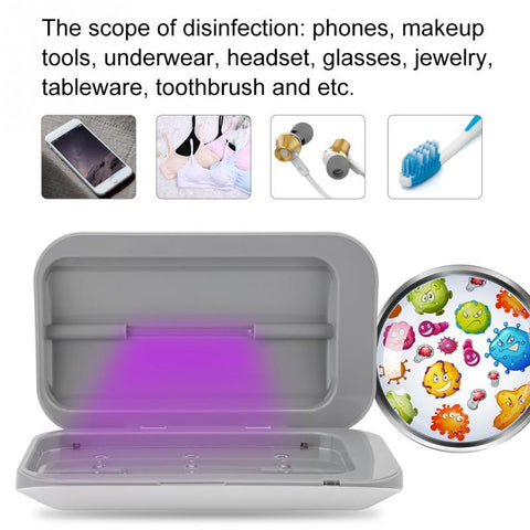 Double Antibacterial UV Light Disinfection Box- Devices & More!