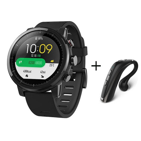Amazfit Stratos 2 Smart Watch- Waterproof with FREE Bluetooth headset