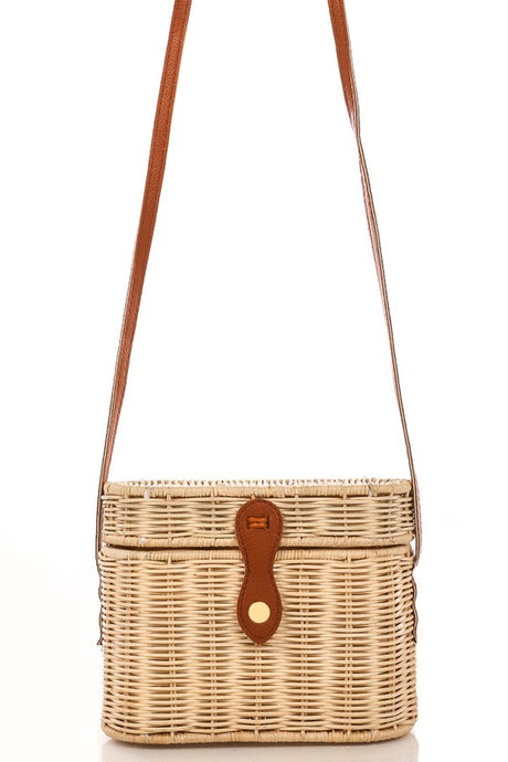 Ory- Oval Woven Structured Bag