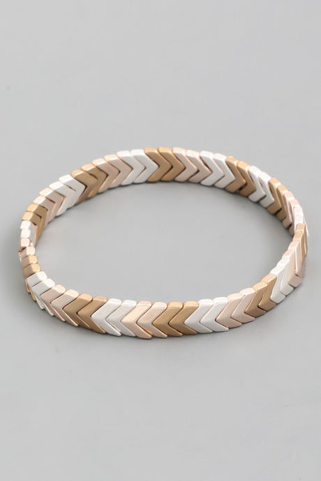 Ellie- Silver/Gold and Gold Elastic Bracelet