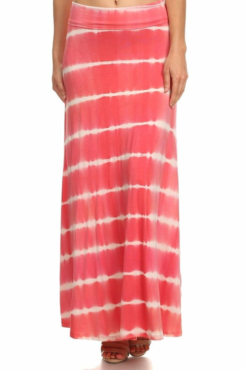 Tam- Tie Dye Foldover Maxi Skirt (Made in USA)