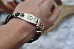 Love-Faith and Hope Bracelet