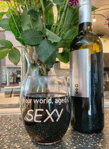 Sexy Wine Glass