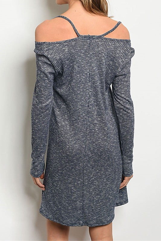 Joy- Long Sleeve Relaxed Sweater Dress (Made in USA)