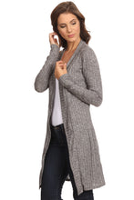 Load image into Gallery viewer, MiMi: Ribbed Long Sleeve Cardigan (XL sizes)