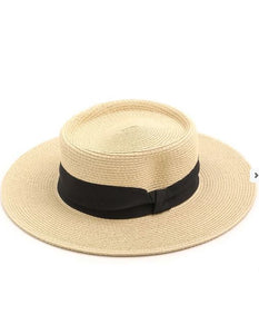 Jo-Straw Hat With Ribbon