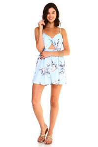 Anfisa-Floral Cut-Out Sleeveless Romper
