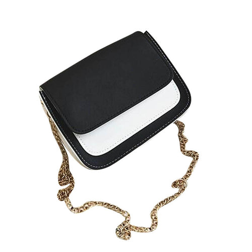 Coco- Color-Block Structured Crossbody with Chain