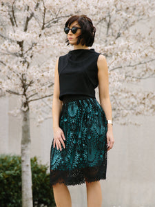 Verona-Lace Midi Skirt (Made in the USA)