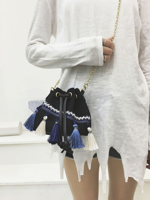 Lucky-Tassel Boho Mini Bag