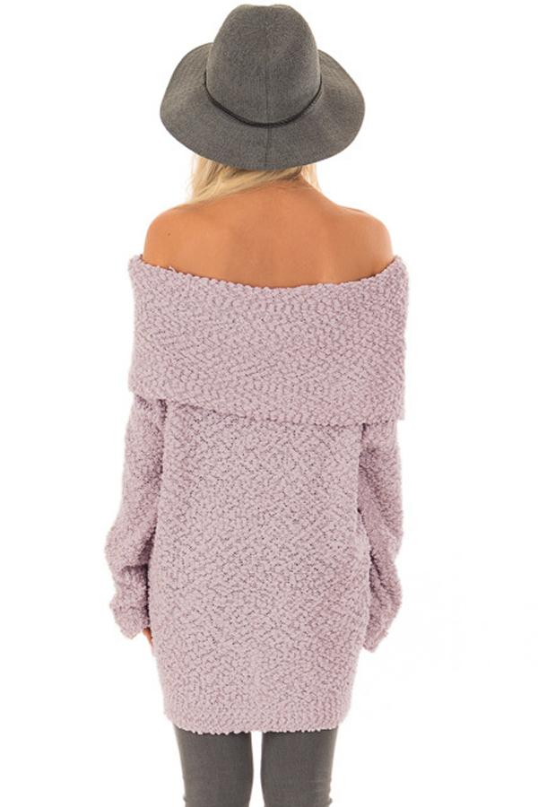 Pink- Off The Shoulder Sweater (S-XL)