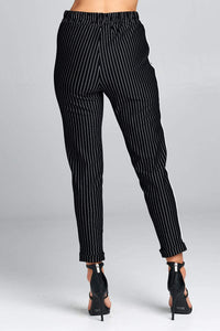 Stacy- High Waist Striped Pants