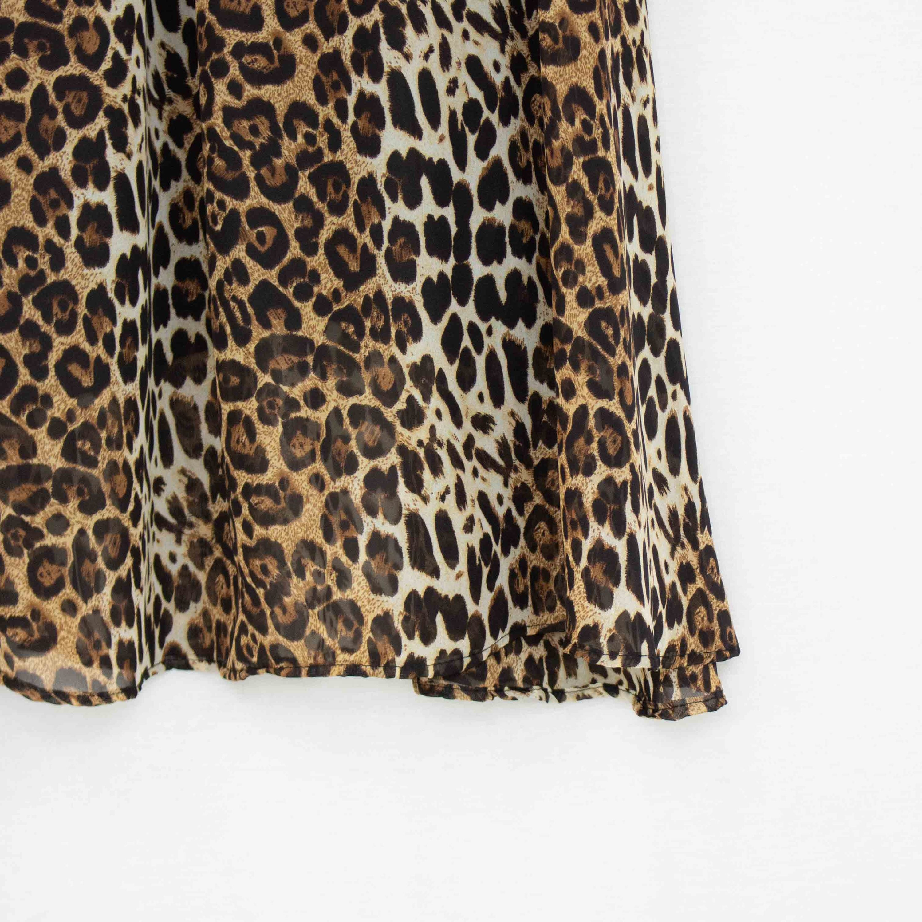 Kitty- Animal Print Flare Midi Skirt (S-XL)