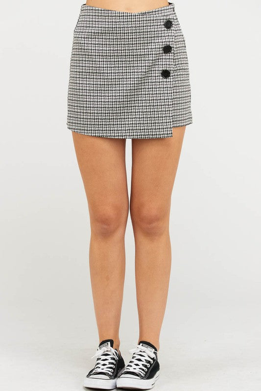 skort with buttons