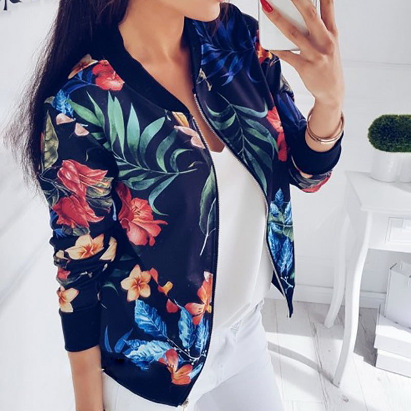 Retro- Floral Jacket (S-5XL)