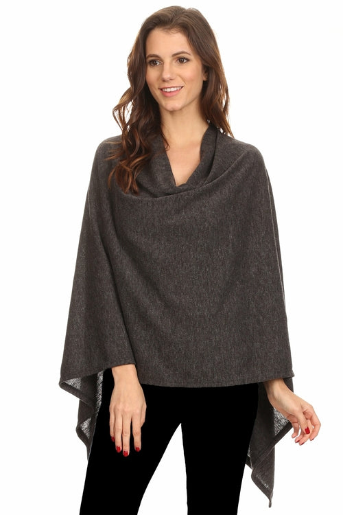 Sharone-Solid Knit Wrap (Made in USA)