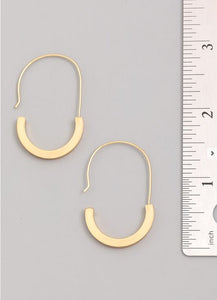 Mooney-Gold Oval Hoop Earrings