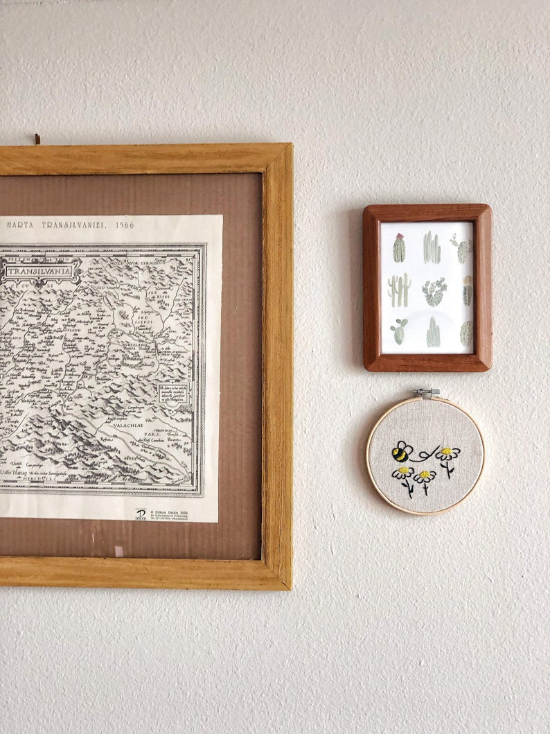 Hand Made Embroidered Hoop Wall Art