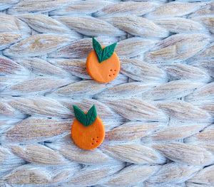 Juicy-Handmade Orange Studs