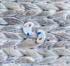 Mou-Handmade Abstract Studs