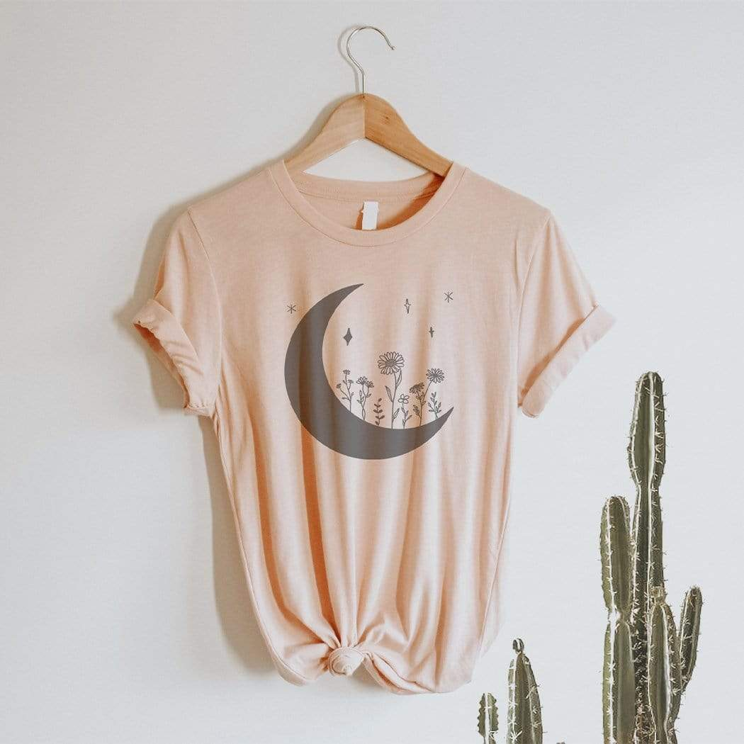 Moon-Flowerchild Graphic T-Shirt