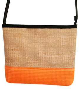 Yogi Orange Jute and Yoga Mat Cross-body