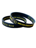 Black Logo Wristband (Set of 2)