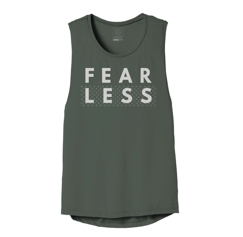 FEARLESS MILITARY GREEN MUSCLE TANK