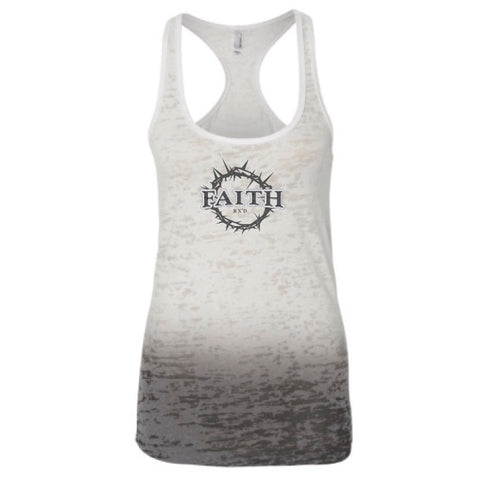 STRONG Ombre Burnout Gray Tank