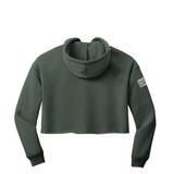 FAITH + FITNESS Women's Crop Military Green Hoodie