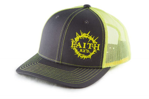 Classic Trucker Hat (Charcoal/Neon Yellow)