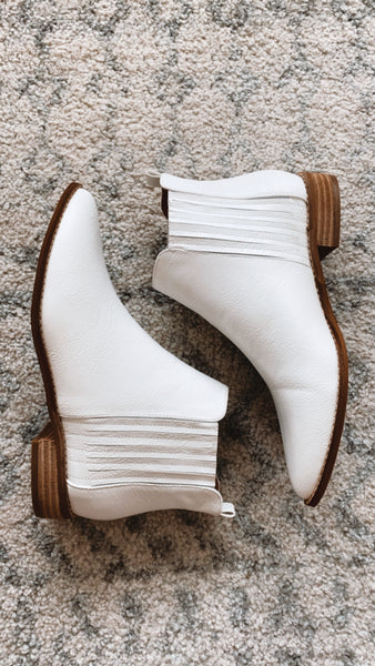 Mattie Bootie- White