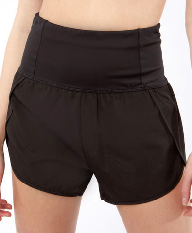 Run Girl Run Active Shorts, Black